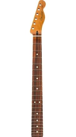 "Roasted Maple Telecaster® Neck, 22 Jumbo Frets, 12"", Pau Ferro, Flat Oval Shape -"