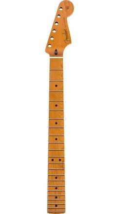 "Roasted Maple Stratocaster® Neck, 22 Jumbo Frets, 12"", Flat Oval Shape - Natural"