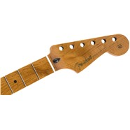"Roasted Maple Stratocaster Neck, 21 Narrow Tall Frets, 9.5"", Maple, C Shape -"