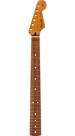 """Roasted Maple Stratocaster Neck, 21 Narrow Tall Frets, 9.5"""", C Shape - Natural"""