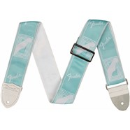 "2"" Custom Color Fender® Monogrammed Straps - Daphne Blue"