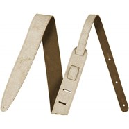 "Fender® 2"" Distressed Leather Straps - White"