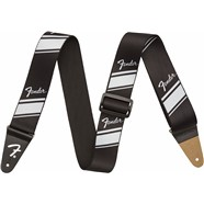 Fender® Nylon Competition Stripe Strap - Silver