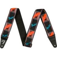 Neon Monogrammed Strap - Blue/Orange