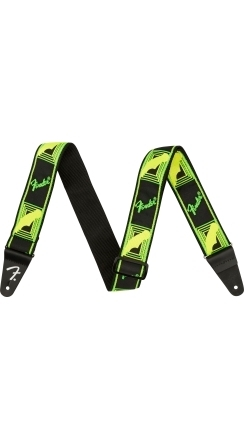 Neon Monogrammed Strap - Green and Yellow