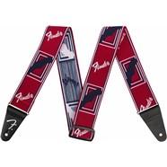 Fender® WeighLess™ Monogram Strap - Red
