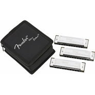 Fender® Blues Deluxe Harmonicas 3-Pack with Case -