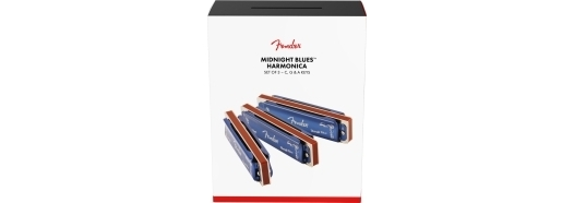 Fender® Midnight Blues Harmonicas - 3-Pack with Case -