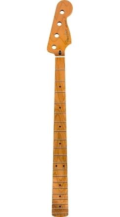"""Roasted Maple Jazz Bass® Neck, 20 Medium Jumbo Frets, 9.5"""", Maple, C Shape -"""