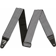 Houndstooth Jacquard Strap - White