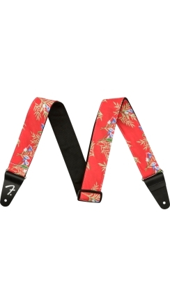 "2"" Hawaiian Strap - Red Floral"