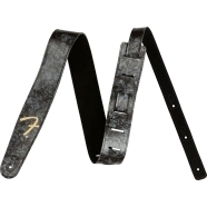 "Fender® ""F"" Celluloid Strap - Black"
