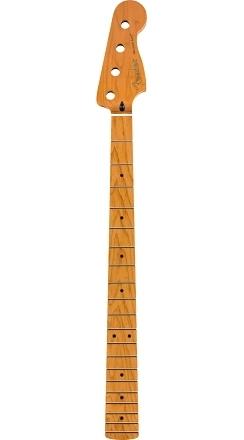 "Roasted Maple Precision Bass® Neck, 20 Medium Jumbo Frets, 9.5"", Maple, C Shape -"