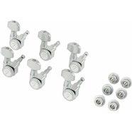 Locking Stratocaster®/Telecaster® Tuning Machines - Brushed Chrome
