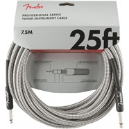 Professional Series Instrument Cable, Tweed - White Tweed