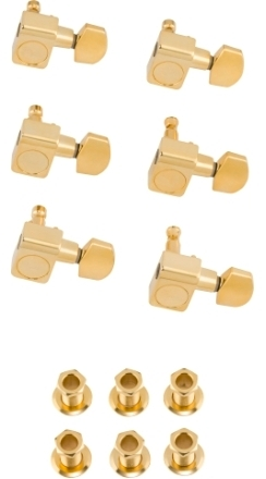 American Professional Staggered Stratocaster®/Telecaster® Tuning Machines - Gold