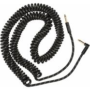 Deluxe Series Coil Cable, Tweed, 30' - Black Tweed