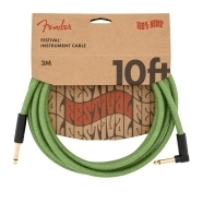 Festival Hemp Instrument Cables - Green