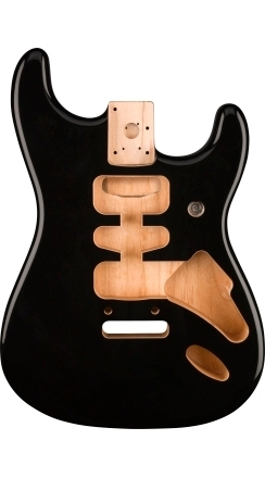 Deluxe Series Stratocaster® Alder Body, Black -