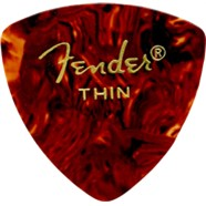 346 Shape Classic Celluloid Picks - 12 Count - Tortoise Shell