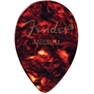 358 Shape Classic Celluloid Picks - 12 Pack - Tortoise Shell