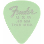 Fender Dura-Tone® Delrin Pick, 351-shape, 12-Pack - Surf Green