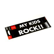 "Fender™ ""My Kid Rocks"" Bumper Sticker - Black with White Lettering"
