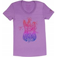 Fender® Ladies Paisely Fade T-Shirt - Purple