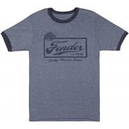 Fender® Beer Label Mens T-Shirt, Blue - Blue