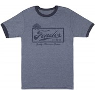 Fender® Beer Label Mens T-Shirt, Blue - Blue
