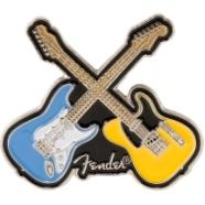 Fender™ Crossed Guitars Enamel Pin -