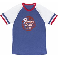 Fender® Women's Football T-Shirt, Red, White and Blue - Red, White and Blue