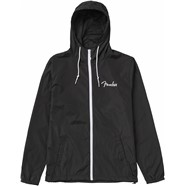 Fender® Spaghetti Logo Windbreaker - Black