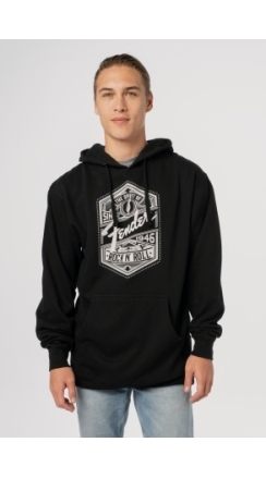 Fender® Spirit of Rock 'N' Roll Men's Hoodie - Black