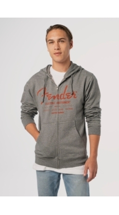 Fender® Electric Instruments Men's Zip Hoodie - Gray