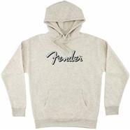 Fender® Distressed Logo Hoodie - Oatmeal