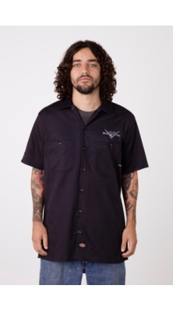 Custom Shop Eagle Work Shirt - Black