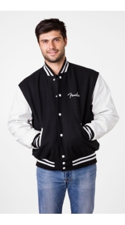 Fender® Custom Shop Varsity Jacket - Black and White