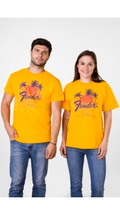 Fender® Palm Sunshine Unisex T-Shirt - Marigold
