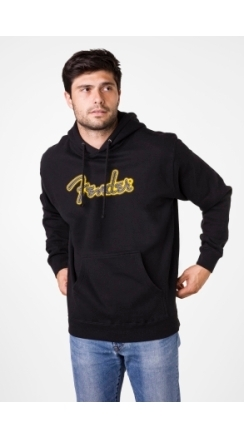 Fender® Yellow Stitch Logo Hoodie - Black