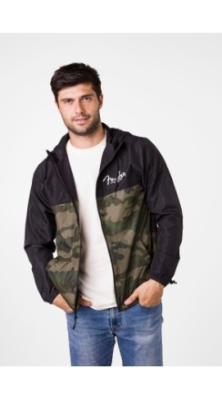 Fender® Camo and Black Windbreaker - Camo and Black