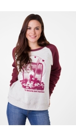 Fender® Women's Love Sweatshirt - Oatmeal and Maroon