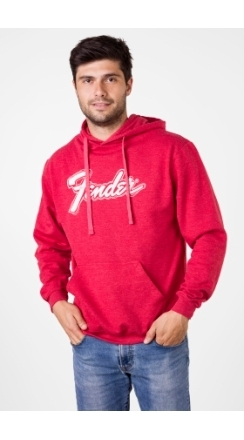 Fender® Doodle Logo Pullover Hoodie, Heather Red - Heather Red