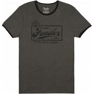 Fender® Beer Label Men's Ringer Tee - Gray/Black