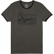 Fender® Beer Label Men's Ringer Tee - Gray/Black