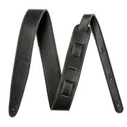"Fender® Artisan Crafted Leather Straps - 2"" - Black"