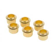Vintage-Style Tuning Machine Bushings (6) - Gold
