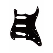 11-Hole Modern 1-Ply Stratocaster® S/S/S Pickguards - Black