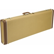 G&G Deluxe Hardshell Cases - Stratocaster®/Telecaster® - Tweed with Red Poodle Plush Interior