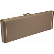 G&G Deluxe Hardshell Cases - Jaguar® - Jazzmaster® - Toronado® - Jagmaster™ - Brown with Gold Plush Interior